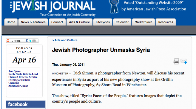 Syria: Faces of the People in The Jewish Journal