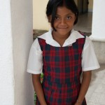 Schoolgirl with Camera, Safe Passage, Guatemala City