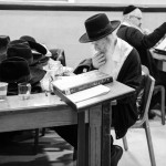 Studying religious texts at a yeshiva, or Jewish school.