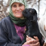Um Naseem and Her Goat, Orjan, Jordan.  She was one of the first to offer homestays when the Path first opened.