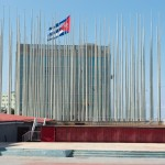 As a response to The US Interests Section (equivalent of an embassy but without diplomatic relations) using its building facade as an LCD billboard to show anti-Castro propaganda, the Cubans erected 138 flag polls to block the view.