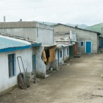Homes and back alley in Rasum Special Economic Zone