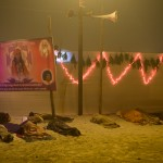 Many pilgrims travel vast distances and then sleep in the streets in order to participate