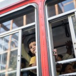 Boy in bus, Mumbai